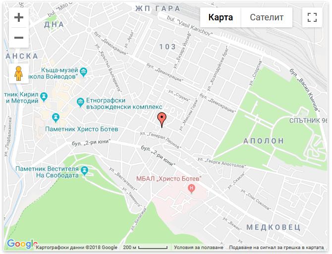 Хотел Мира Карта